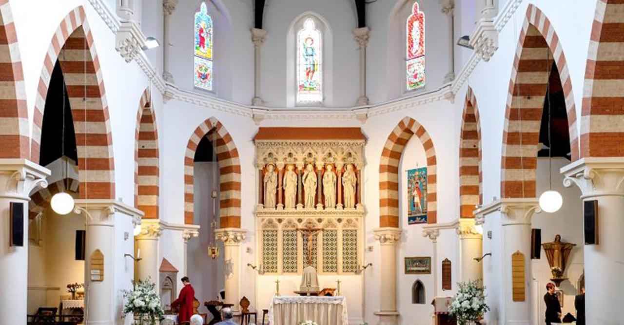 St Pancras church interior